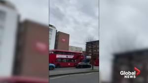 'Shaken' witness recounts London stabbing incident described as terrorism (01:17)