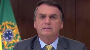 Brazil sees record COVID-19 deaths as pot-bangers protest Bolsonaro's speech (01:25)