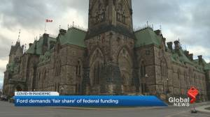 Coronavirus: Doug Ford demands 'fair share' of federal funding