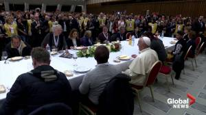 Pope Francis marks World Day of the Poor with communal lunch