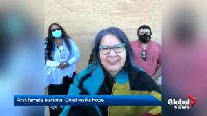 First female National Chief has communities optimistic (01:42)