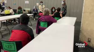 Edmonton mass vaccination clinic opens at Expo Centre (01:05)