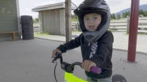 2-year old Nanaimo cyclist a big hit on TikTok (01:24)