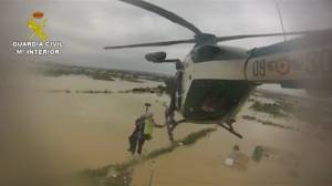 Spanish police rescue stranded flood victims