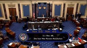 U.S. Senate passes War Powers Resolution on Iran
