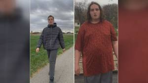 Community sends letters of motivation to Alberta man with Autism after he loses 75 pounds walking to his mailbox (01:45)
