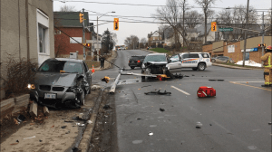 2 to hospital following collision at Reid and McDonnel streets in Peterborough