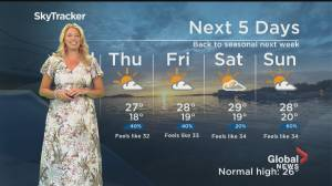 Global News Morning weather forecast: July 29, 2020