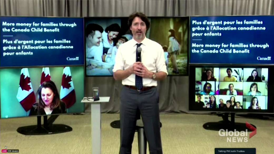 Click to Play Video: 'Government Increases Canada's Child Benefit for Children Under 6 - Trudeau'