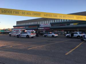 2 taken to hospital following reported stabbing outside Peterborough plaza