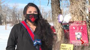 Drive-thru REDress event held in honour of missing and murdered Blood Tribe members (01:49)
