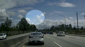 Video captures possible meteor falling from sky above Metro Vancouver