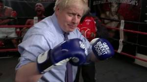U.K. PM Boris Johnson throws jabs at boxing club ahead of election debate
