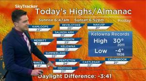 Kelowna Weather Forecast: September 24 (03:24)