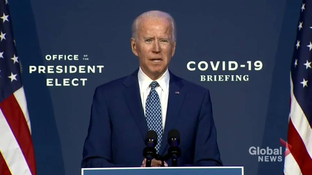 Click to play video 'Coronavirus: Biden announces COVID-19 Transition Advisory Board as U.S. cases continue rising'