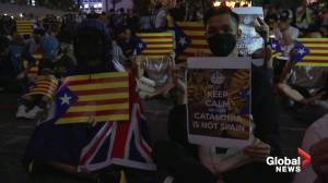 Hong protesters express support for Catalan demonstrators
