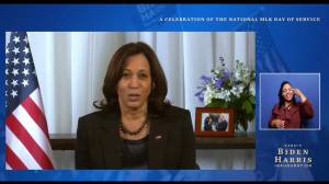 MLK Day: VP-elect Harris says inauguration marks 'new beginning for our country' (01:08)
