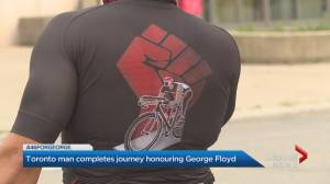 Toronto man completes journey honouring George Floyd