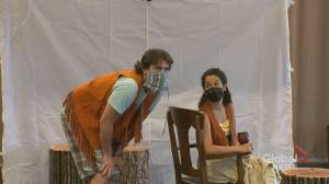 Outdoor Shakespeare shows mark 'really cool' return to normal for Calgary audiences (01:52)