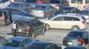 Long lineups at the checkouts not the only headache during the holidays. Finding parking can test your patience.