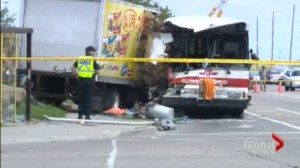 Fatal crash involving TTC bus