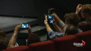 Moviegoer calls 911 over man using cell phone at TIFF screening