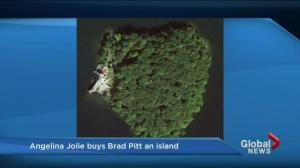 Angie buys Brad a heart-shaped island for his birthday
