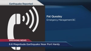 Emergency Management BC responds to Port Hardy earthquake