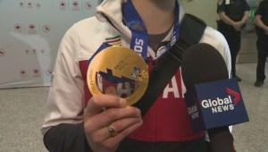 Canadian Olympic women's hockey team returns home