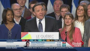 Decision Quebec: Francois Legault addresses CAQ supporters