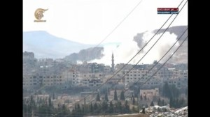 Syrian army bombards rebel-held town as part of offensive
