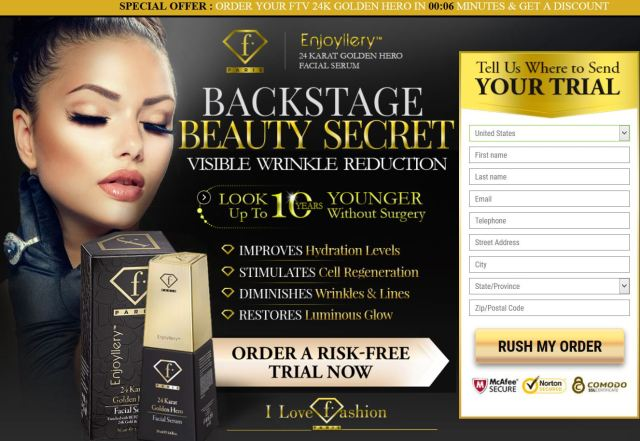 Exclusive** - FashionTV 24 Karat Golden Hero Facial Serum - Free Trial