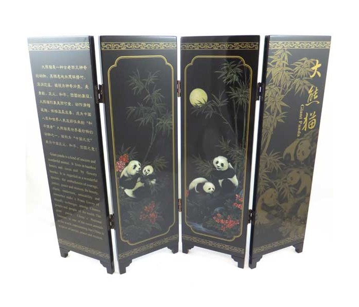 Chinese Giant Panda Design Tabletop Screen Oriental Gifts From Got Bonsai