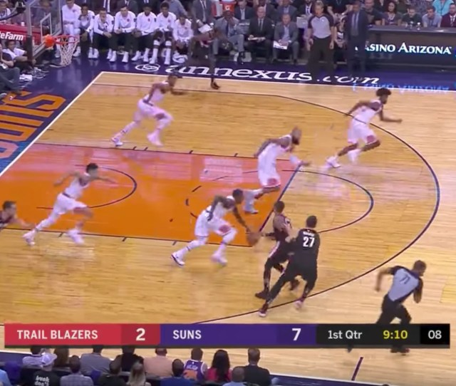 There Was A Glitch In The Matrix During Last Nights Phoenix Suns Game Gq