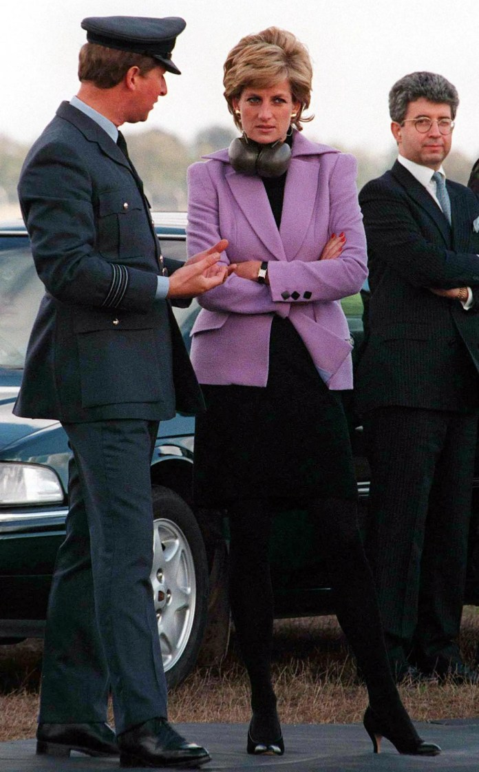 pPrincess Diana wearing her Cartier Tankp