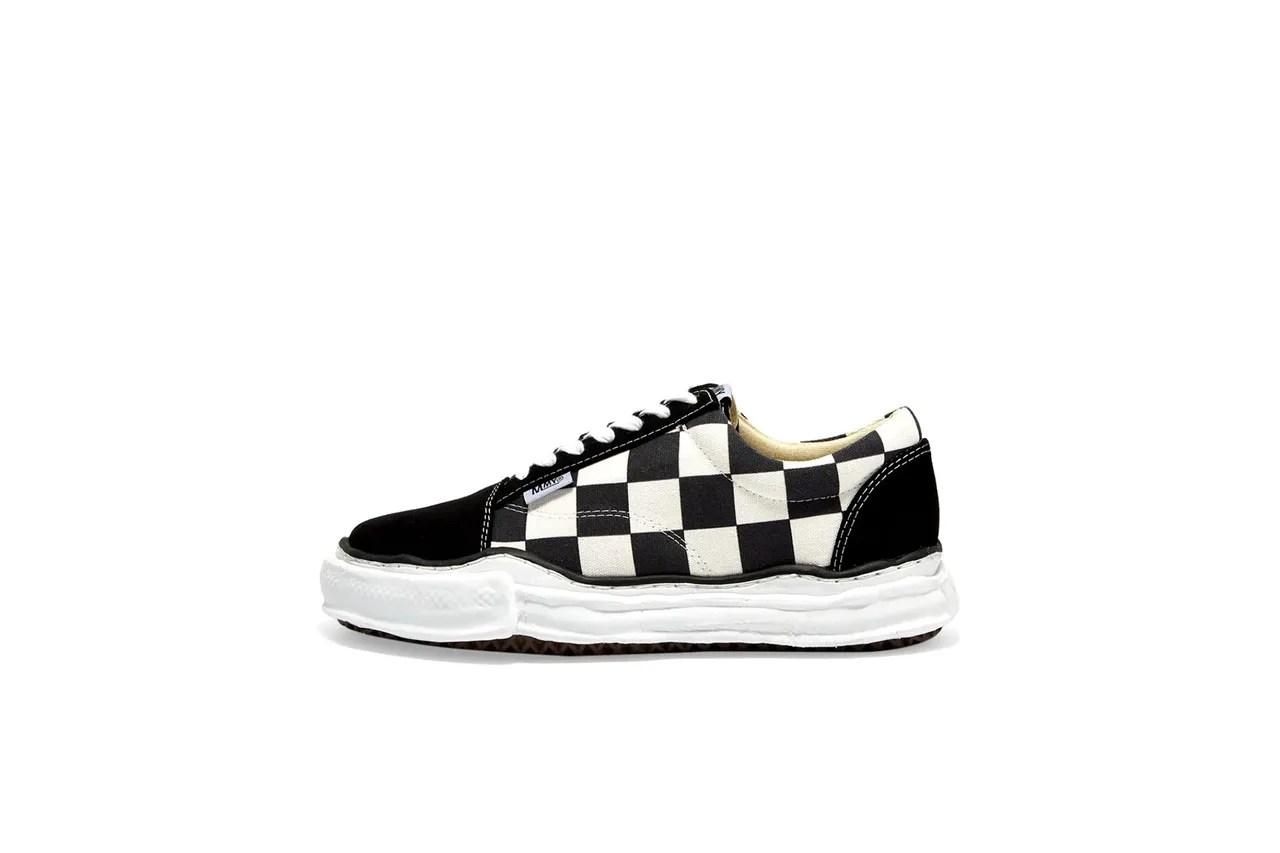 Maison Mihara Yasuhiro Original Sole Big Gingham Low Cut Sneaker