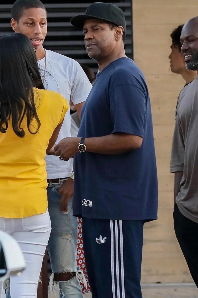 Denzel Washington hanging out.