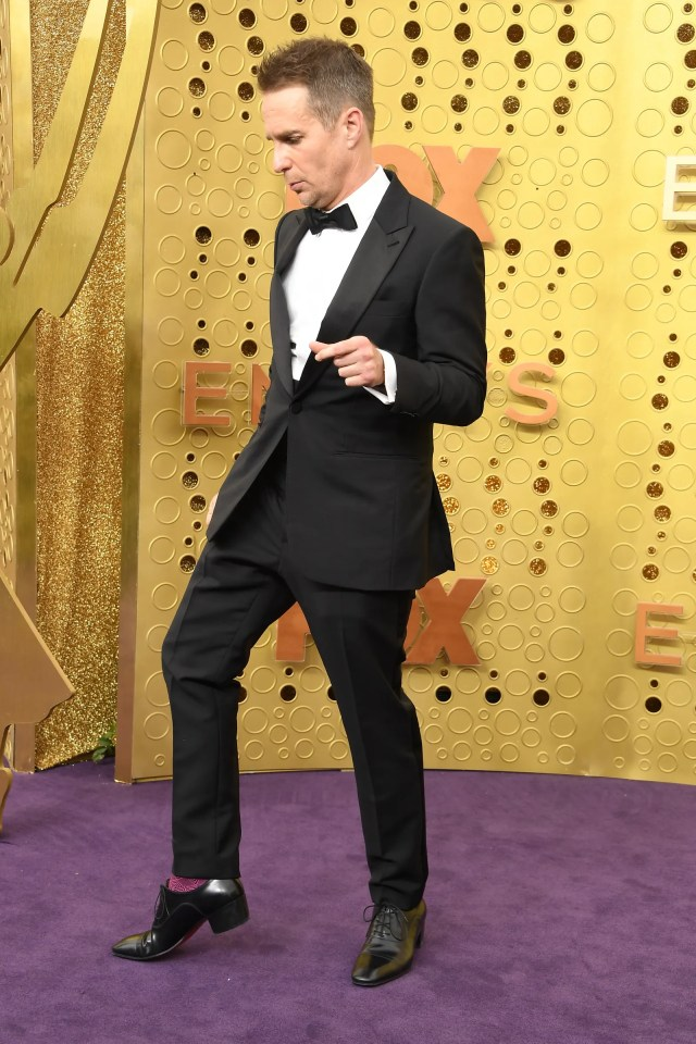 LOS ANGELES CALIFORNIA  SEPTEMBER 22 Sam Rockwell arrives at the 71st Emmy Awards at Microsoft Theater on September 22...