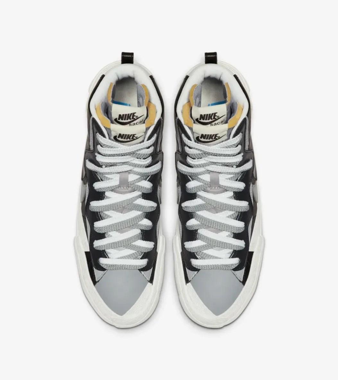 A top down profile fo the Nike Sacai Blazer