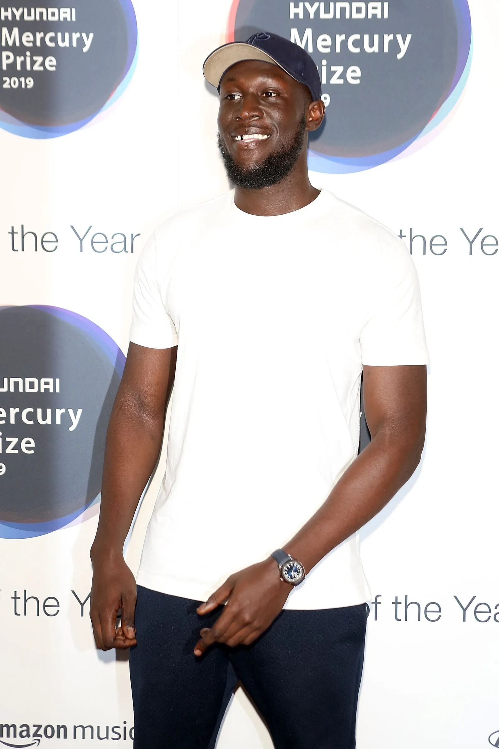 LONDON ENGLAND SEPTEMBER 19 Stormzy attends The 2019 Hyundai Mercury Prize Albums of the Year at the Eventim Apollo...