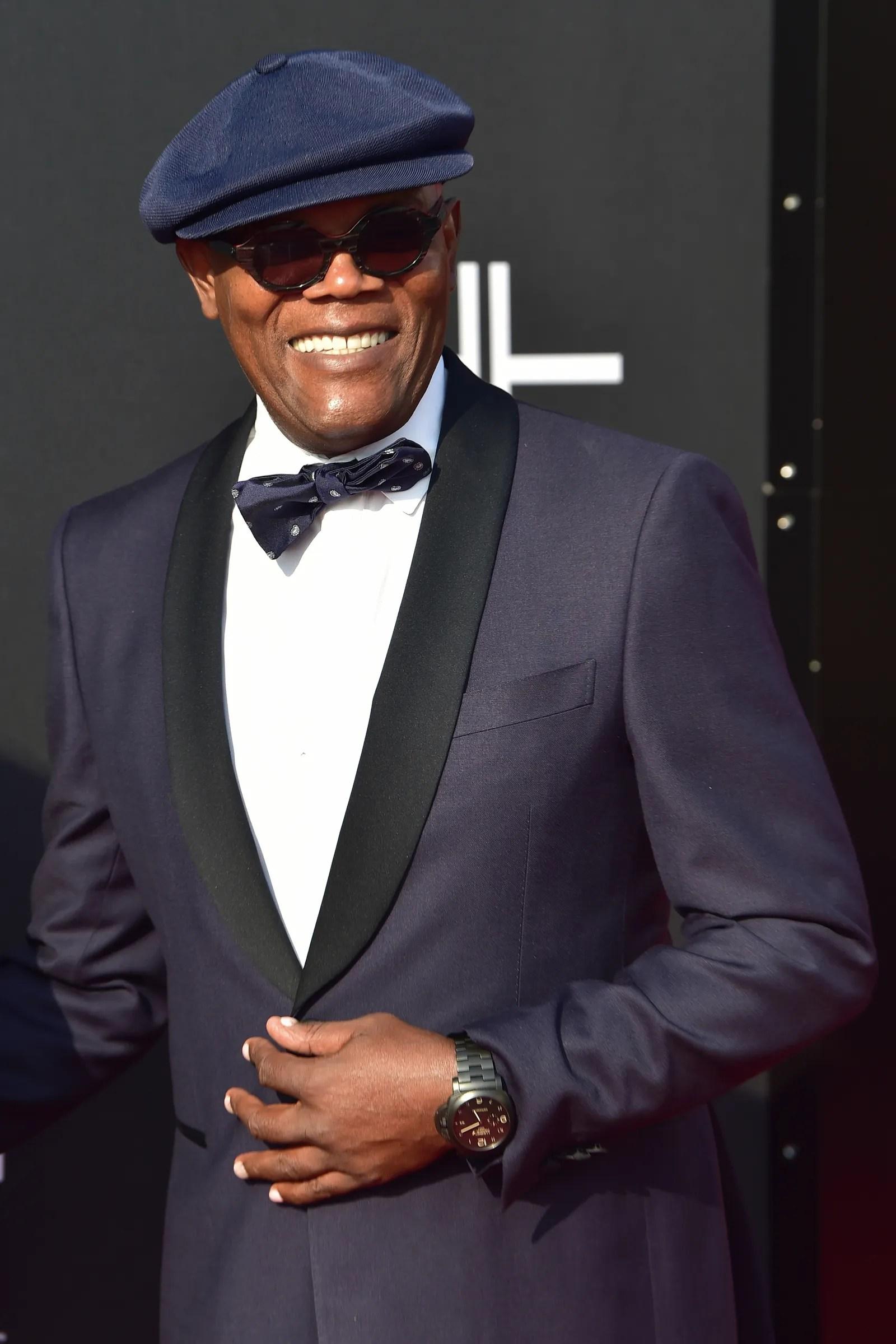 ATLANTA GA OCTOBER 05 Samuel L. Jackson attends Tyler Perry Studios Grand Opening Gala Arrivals at Tyler Perry Studios...