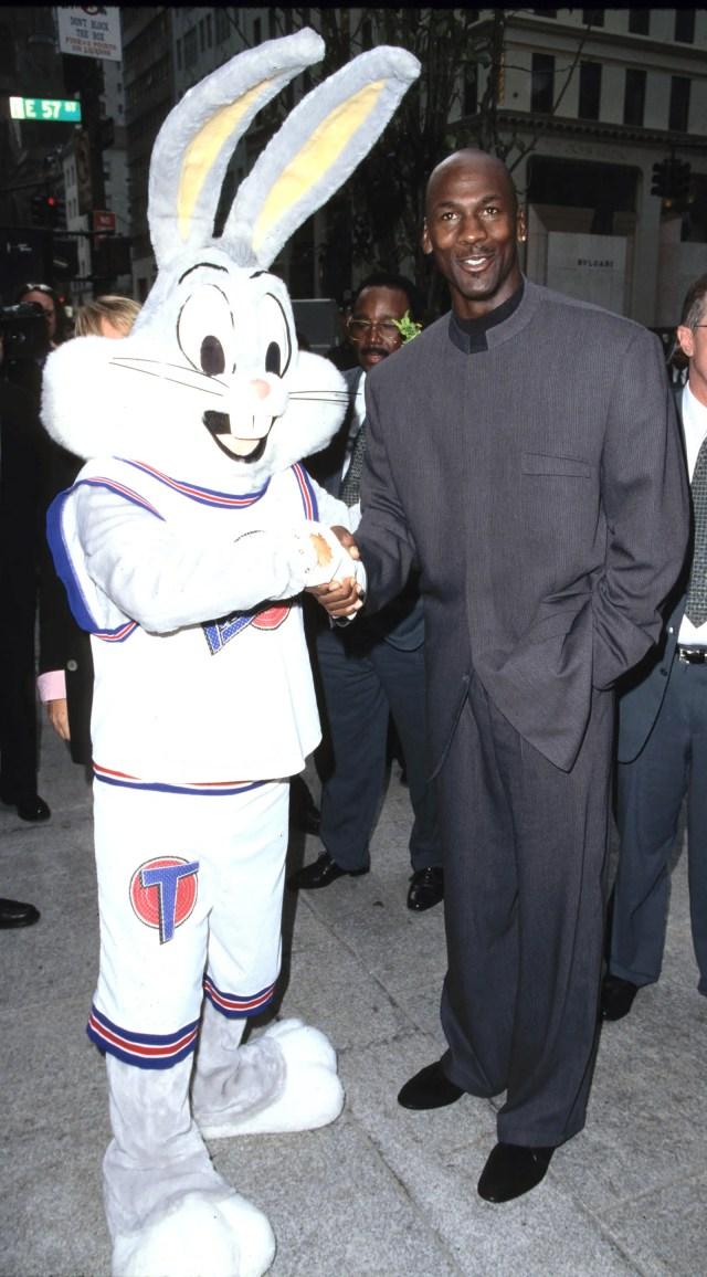 Michael Jordan in New York October 23 1996.