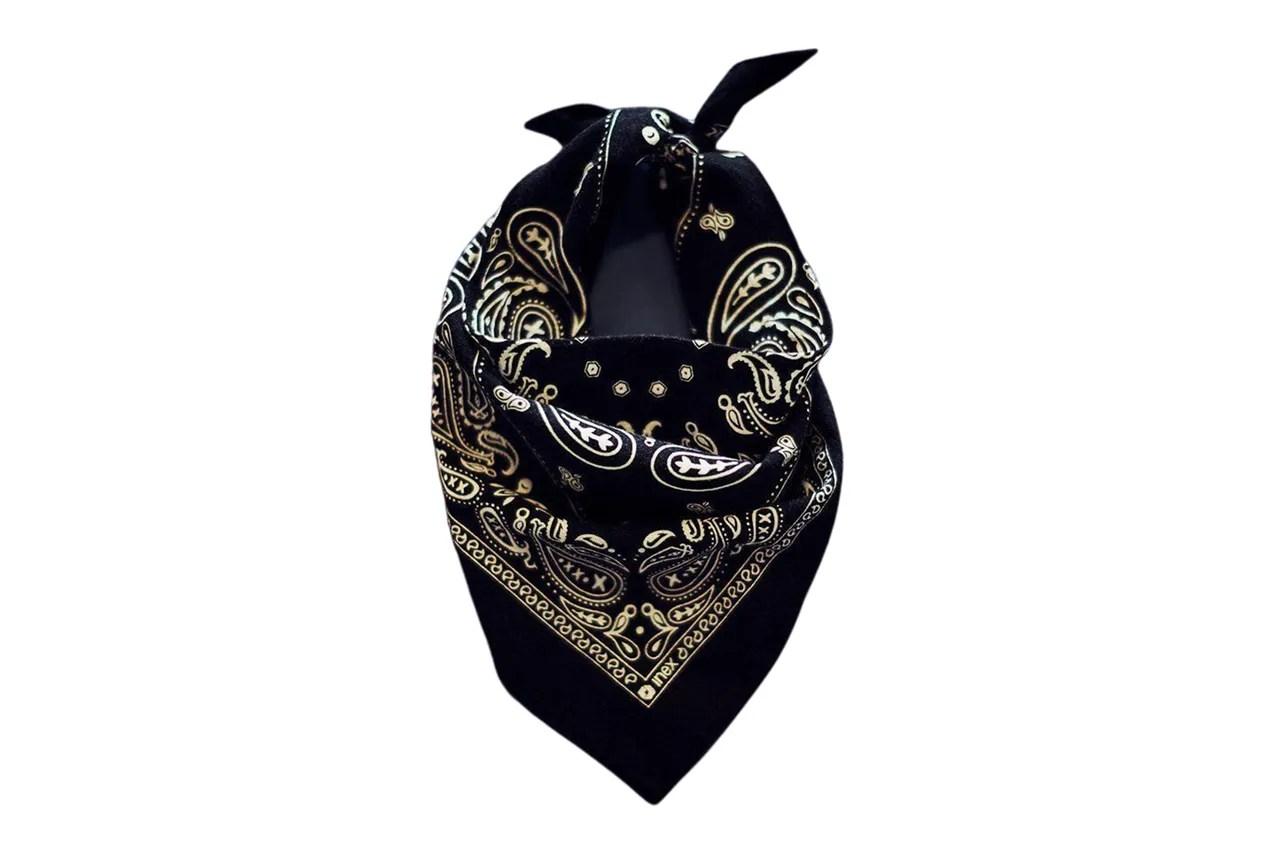 Image may contain: Clothing, Apparel, Bandana, Headband, and Hat