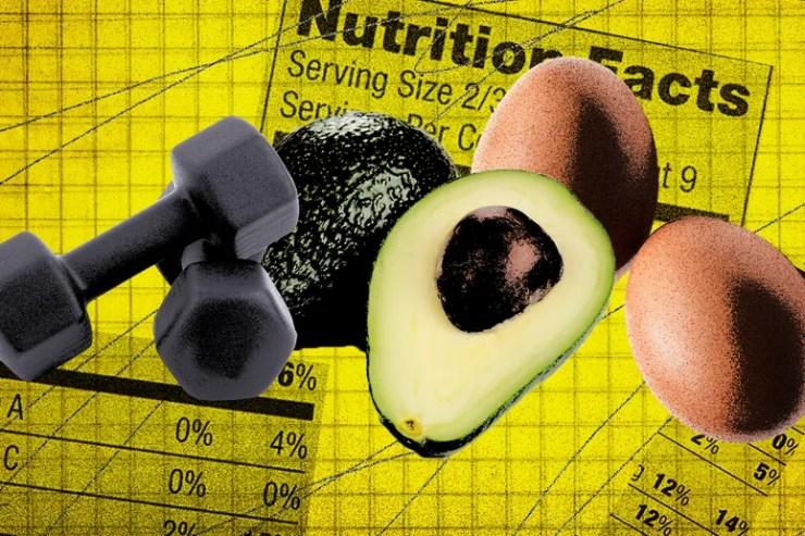 Weights, Avocado, and Egg