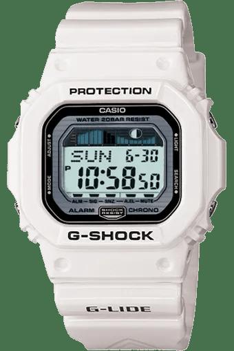 A white casio g shock watch