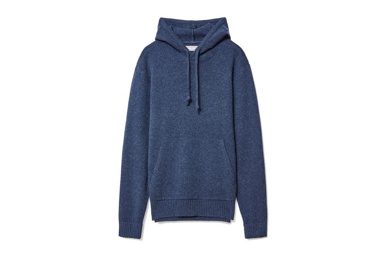 Image may contain: Clothing, Apparel, Fleece, Sweater, Sweatshirt, and Hood