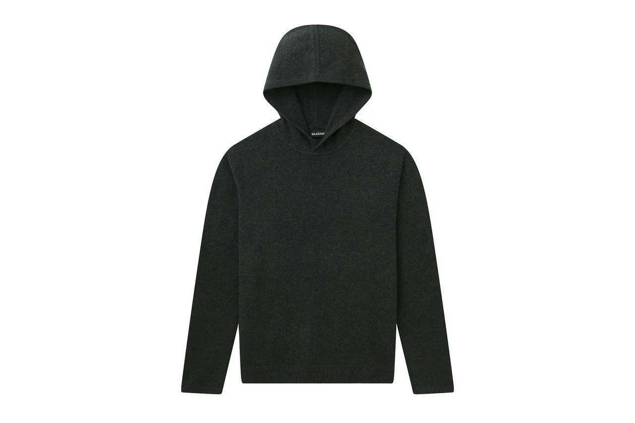 Image may contain: Clothing, Apparel, Fleece, Sweater, Sweatshirt, Hoodie, Sleeve, Hood, Long Sleeve, Human, Person, and Coat
