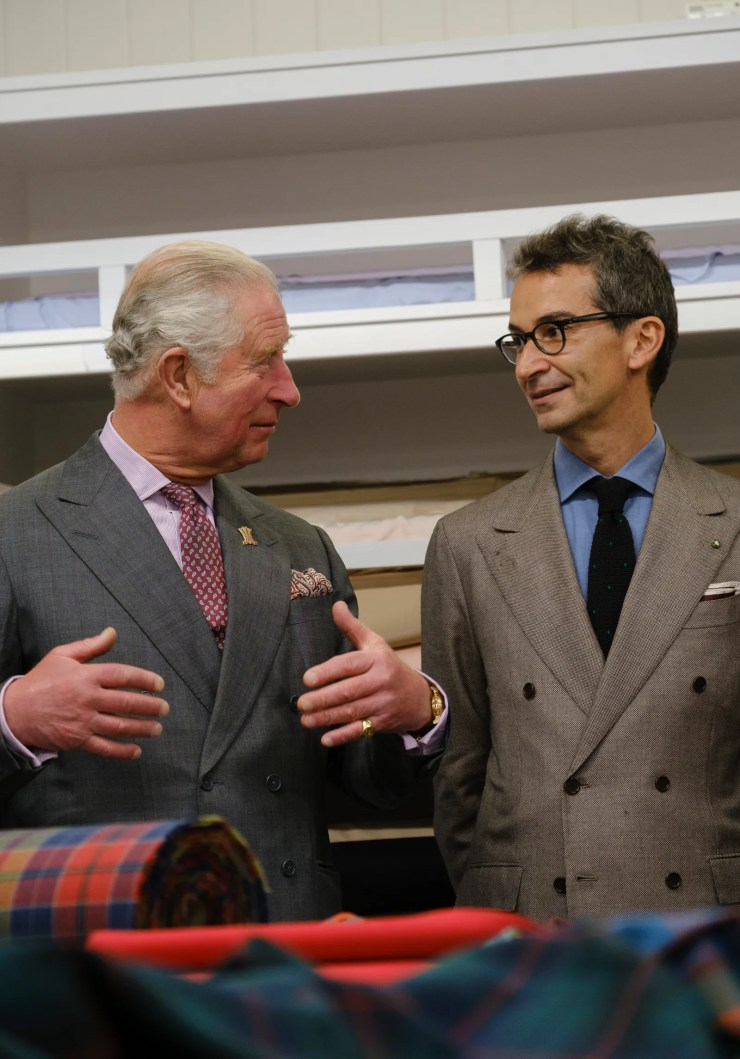 Prince Charles speaks with Federico Marchetti at Dumfries House September 2020.