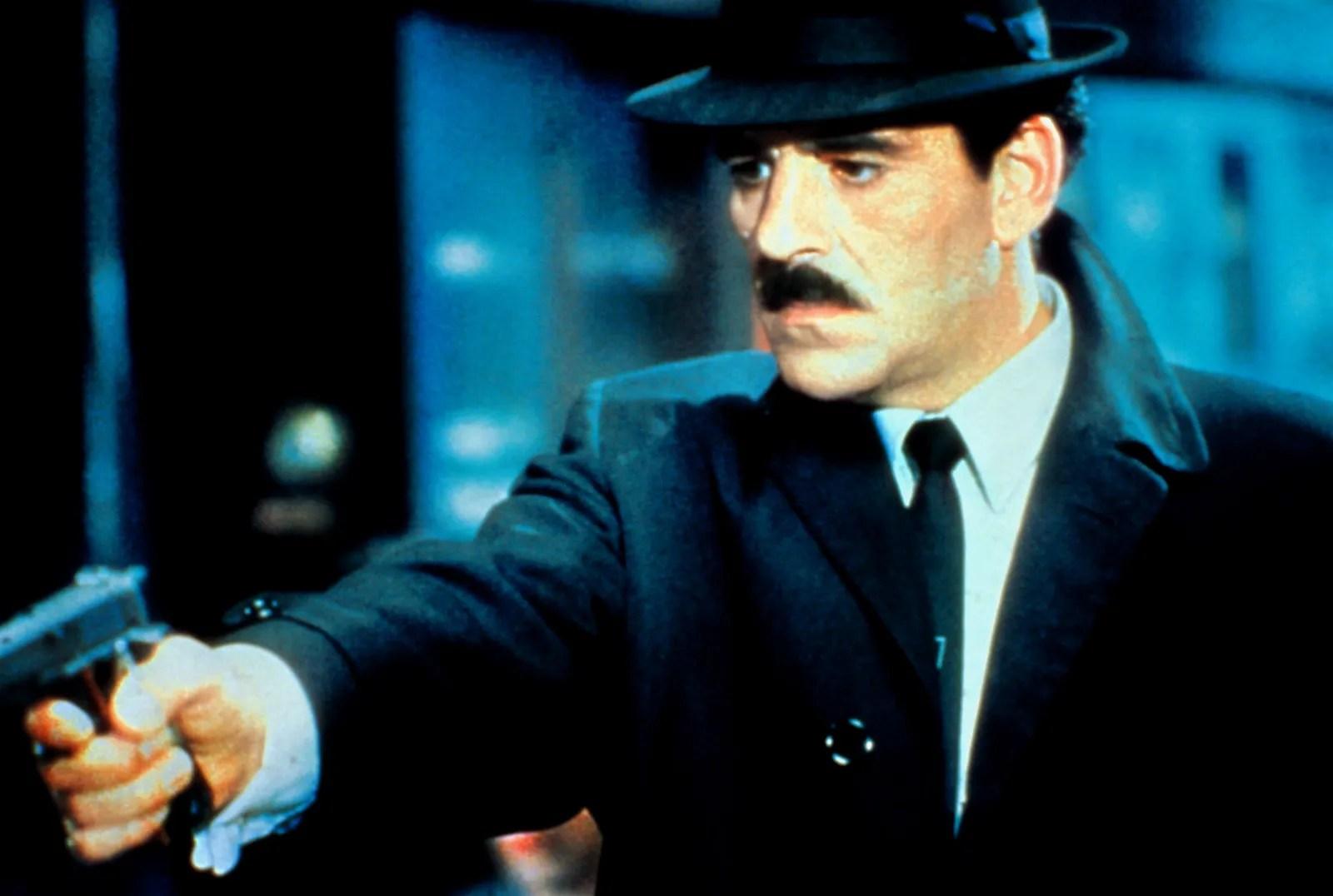 Dennis Farina as Lieutenant Mike Torello in Crime Story.