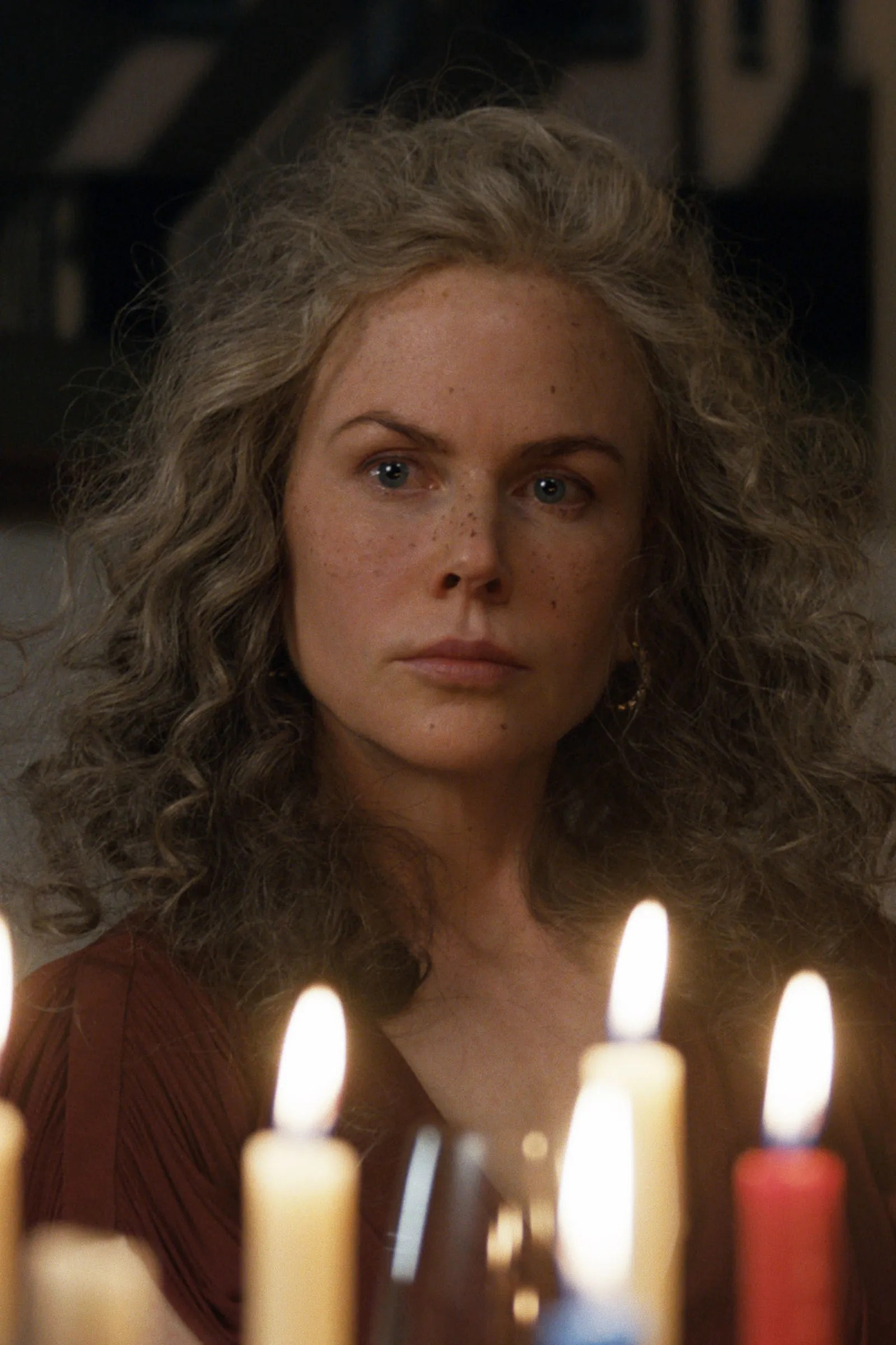 Image may contain Nicole Kidman Candle Human Person Food Dessert and Cake